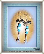 "Orecchini pendenti ""Love Paris"" con charms Torre Eiffeil"
