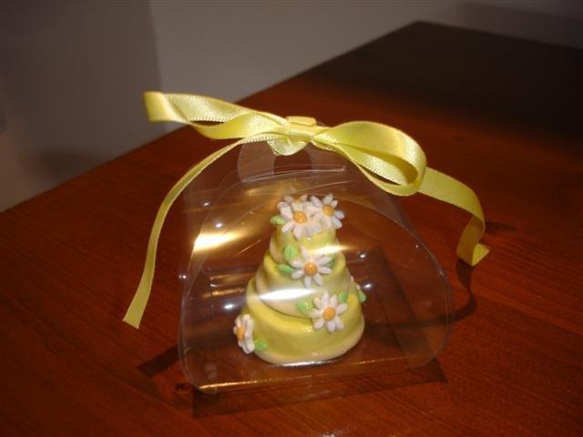 ESEMPIO di MINI WEDDING CAKE BOMBONIERA SEGNAPOSTO matrimonio fimo -  PERSONALIZZABILI Scegli tu colore e decori