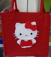 bolso fieltro hello kitty