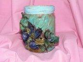 vasetto di vetro con fiori pot-pourri