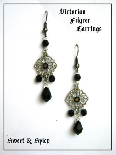 VICTORIAN FILGREE EARRINGS