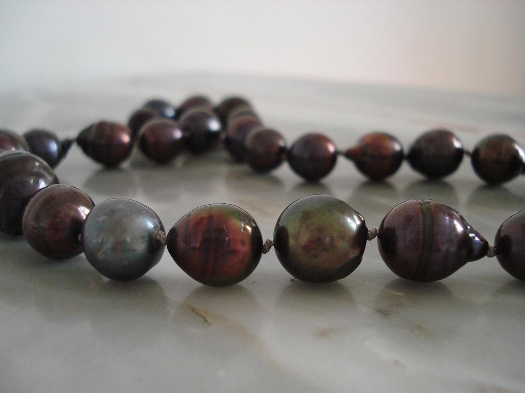 Girocollo di perle barocche d'acqua dolce