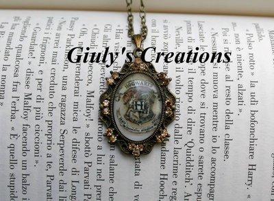 Collana con Cameo - Hogwarts - dalla saga Harry Potter
