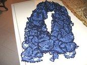 Sciarpa blu-azzurra