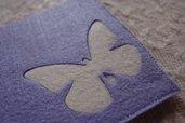 Sottotazza sottobicchiere bomboniera  feltro lillac farfalla