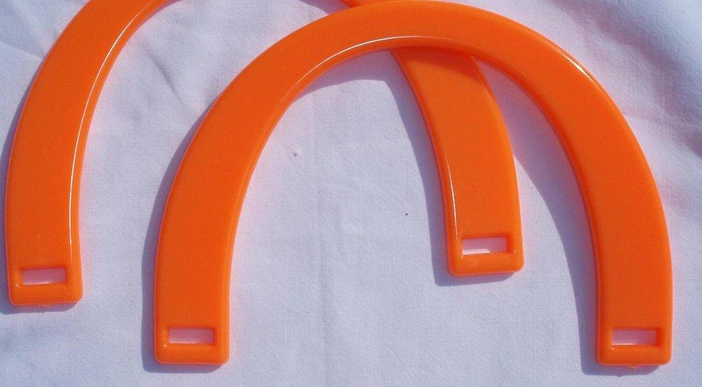 Manici mezzaluna arancio fluo