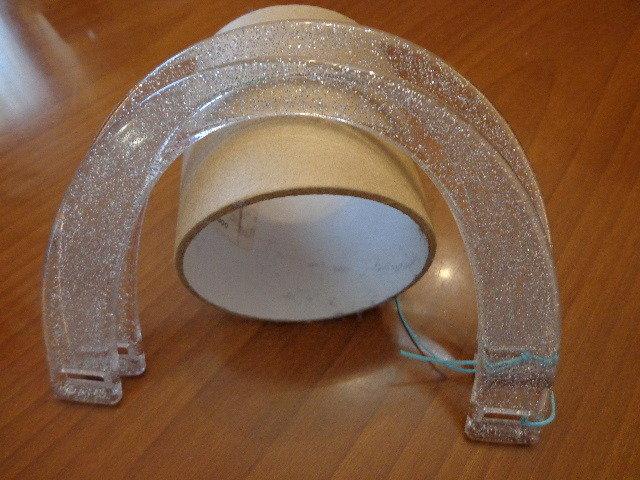 Manici mezzaluna argento glitter
