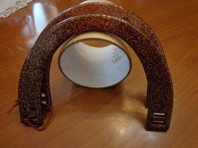 Manici per borsa marrone glitter