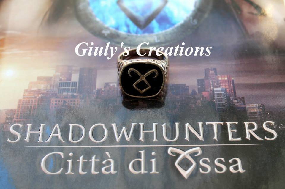 Anello Runa Simbolo del Potere della Runa Angelica - ispirato alla saga Shadowhunters