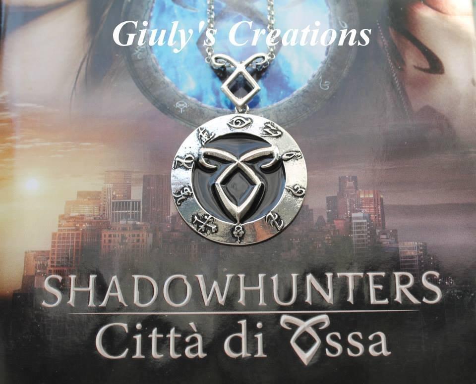 Collana Simbolo del Potere della Runa Angelica nel cerchio delle Rune dalla saga The Mortal Instruments SHADOWHUNTERS Jace e Clary