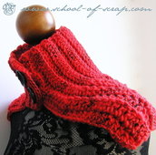Schema Pattern per Red Passion, scaldacollo a mantellina a crochet uncinetto