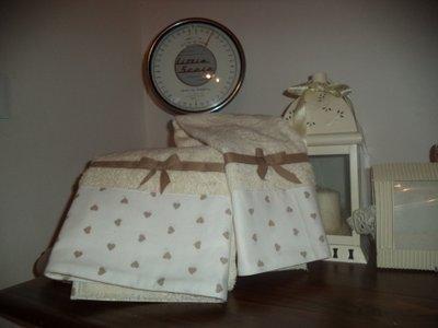 Coppia asciugamani shabby