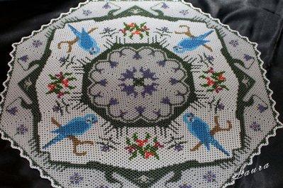 Centrino di perline Uccellini
