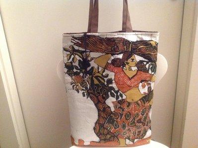 Borsa in cotone batik con bustina