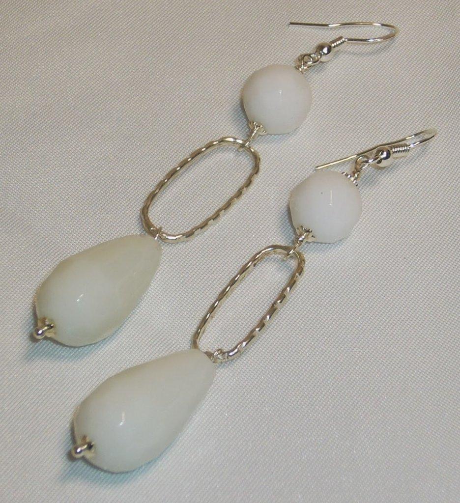 Orecchini Con Perle e Gocce di Agata Bianca