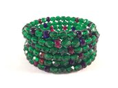 Bracciale smeraldo con filo armonico