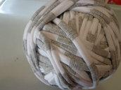 Fettuccia cotone righe grigio/bianco