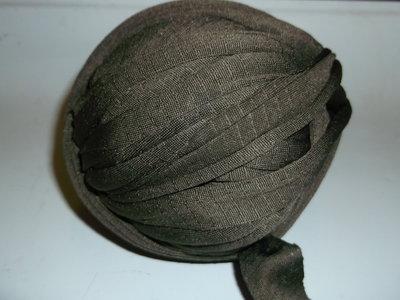 Fettuccia cotone elastico verde marcio
