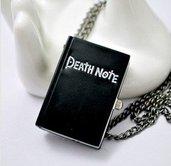 Collana con orologio DEATH NOTE quaderno della morte di Kira Death Note L elle manga e anime
