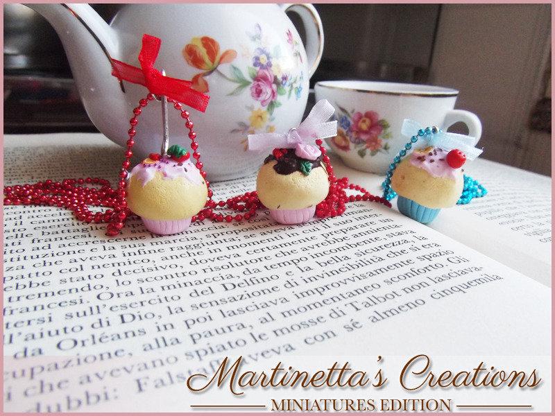 Collana cupcake colorati in fimo