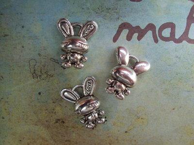 Charm coniglietto argento
