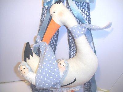 Fiocco nascita - Cicogna