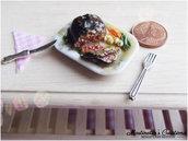 Miniatura Roast beef in scala 1:12 in fimo