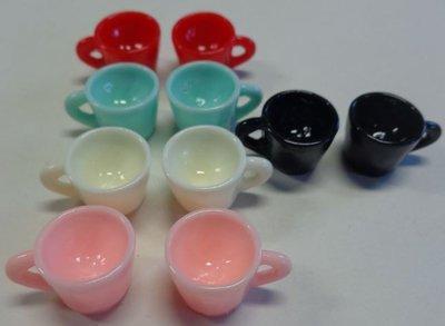 10 Mini Tazzine in Resina in 5 colori