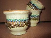 set 6  coppe gelato in ceramica