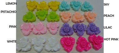 64 Cabochon Rosa di Francia