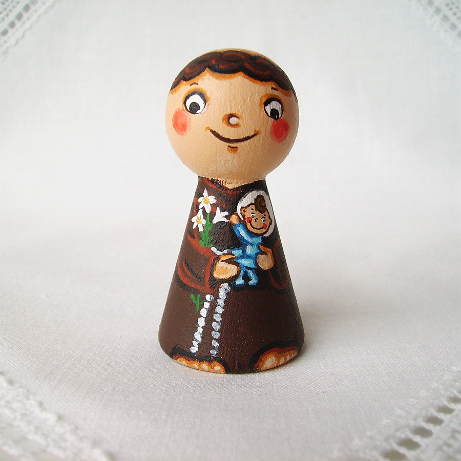 Santo Antonio di Padova Gesù Italia figurina frate