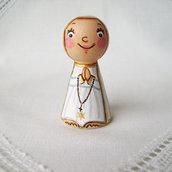 Nostra Signora Madonna di Fatima figurina bambola prima comunione battesimo