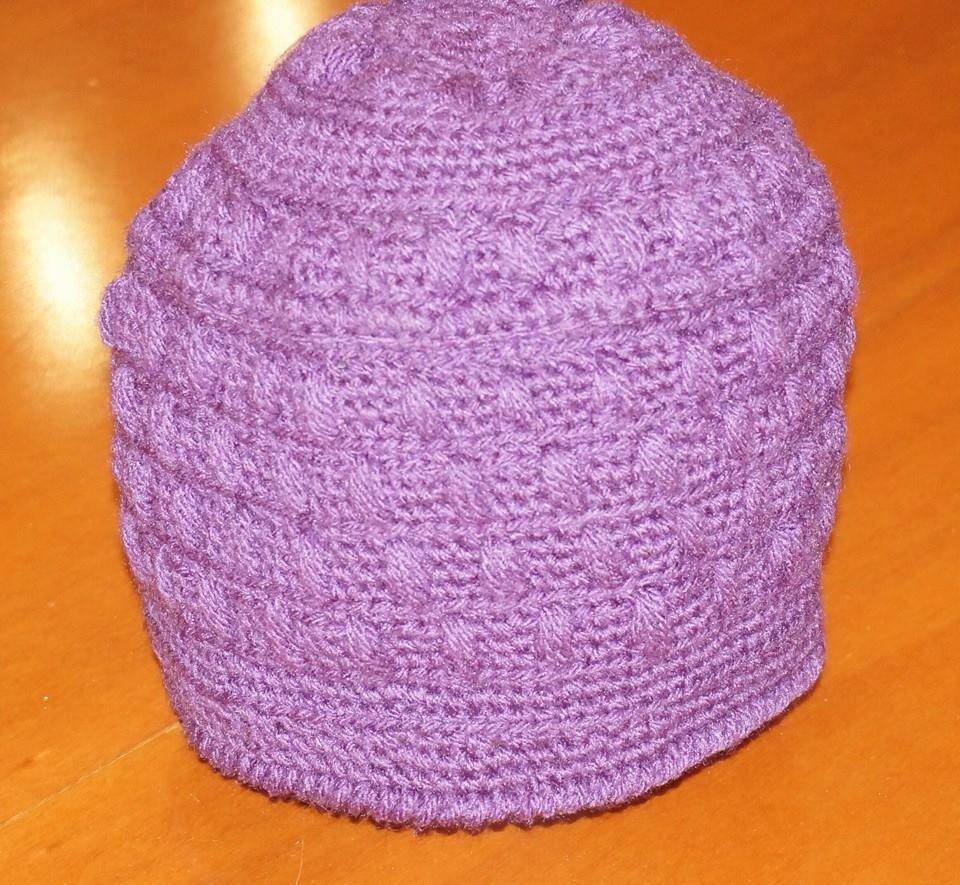 cappello lana, viola/prugna