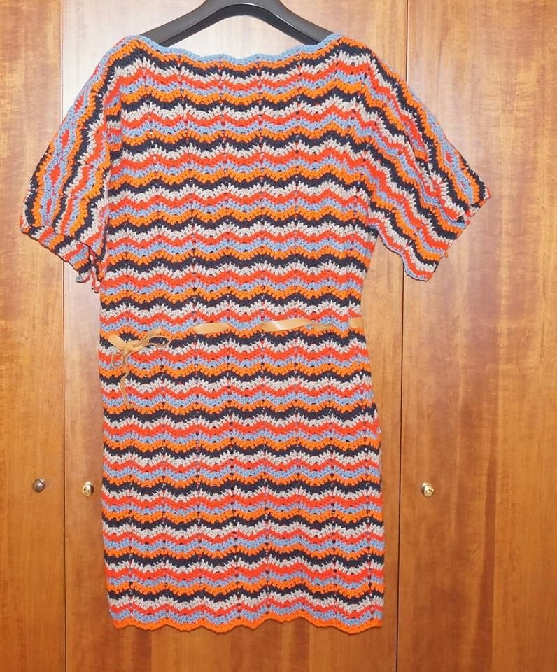 vestito/maxipull strisce lana