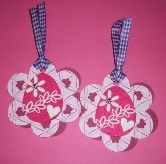 Pasqua Collection^^ - BigTag! Etichette Decorative Doppie con Ovetto di Pasqua^^ - PinkVersion