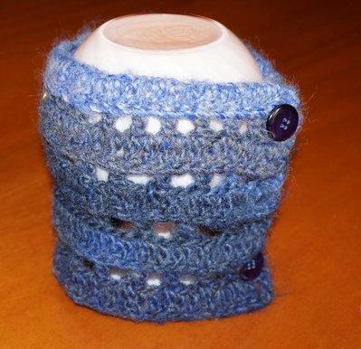 collo lana blu
