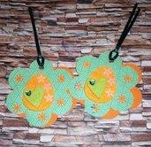 Pasqua Collection^^ - BigTag! Etichette Decorative Doppie con Ovetto di Pasqua^^ - GreenVersion