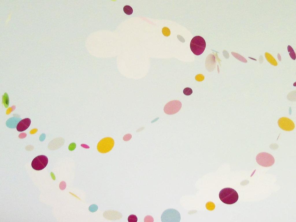 (3m) Festoni di cerchi di carta colorata  per compleanni, battesimo, tutte le feste