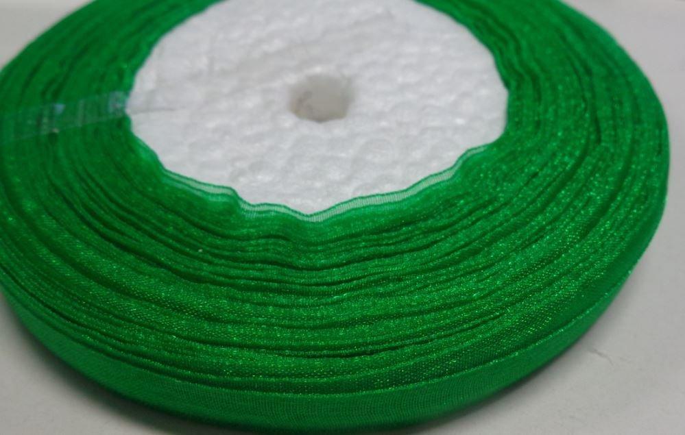 45 Metri Organza Verde Trifoglio