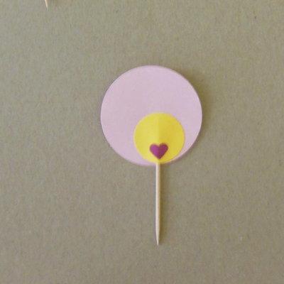 10 Cupcake-Topper personalizzabili: stuzzicadenti decorati sul rosa per compleanno (uguali tra loro)