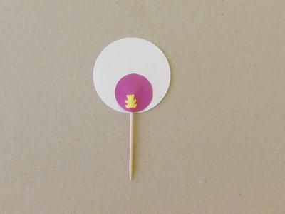20 Cupcake-Topper personalizzabili: stuzzicadenti decorati sul rosa per compleanno (uguali tra loro)