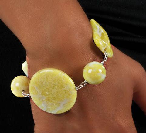 """BRACCIALE pietre dure """"Jasper Lemon"""""""