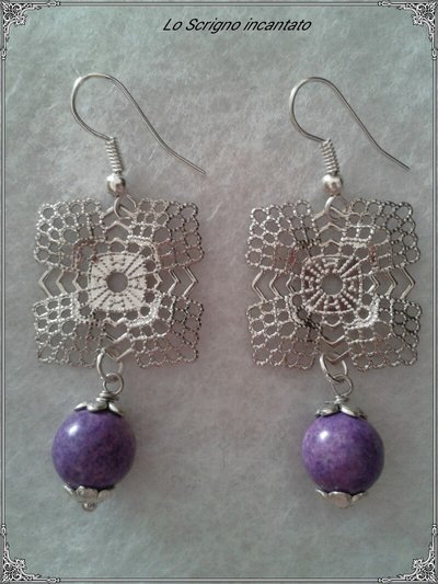 Orecchini violet