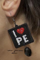 Pescara Love orecchini in pizzo con pendenti by Arte Ricamo & Bijoux