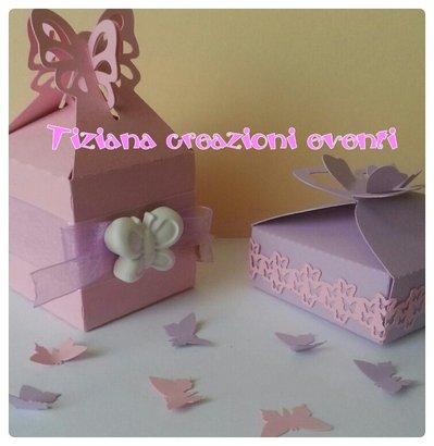 scatoline portaconfetti farfalla