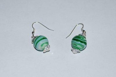 orecchini perla verde
