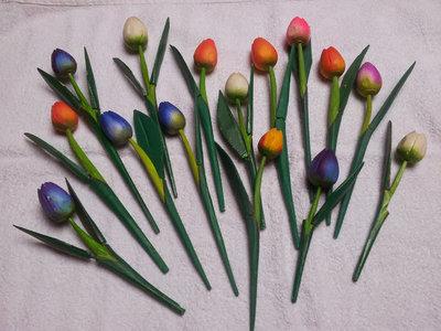fiori in legno set 8pz.