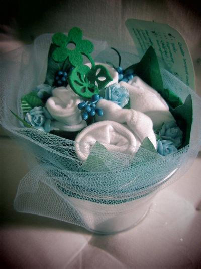 """*bouquet regalo nascita bimbo """"Bocciolino mirtillo piccolo""""*"""