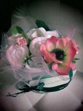 """*bouquet regalo nascita bimba """"Bocciolino rosellina medio""""*"""