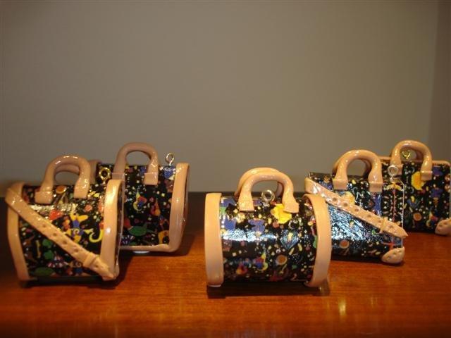 BOMBONIERA fashion bag BORSA FIMO  -  PIERO GUIDI CIRCUS STYLE - matrimonio compleann laurea segnaposto fermacarte